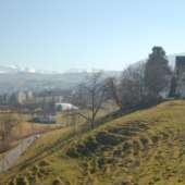 Sicht gegen die Berge